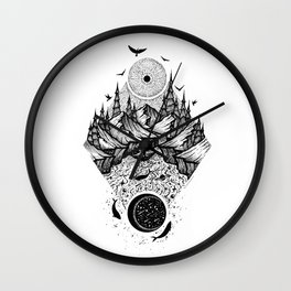 Sun vs Moon Wall Clock