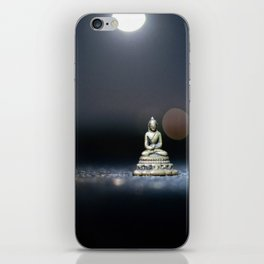 Magical Statue Of Buddha On The Road iPhone Skin