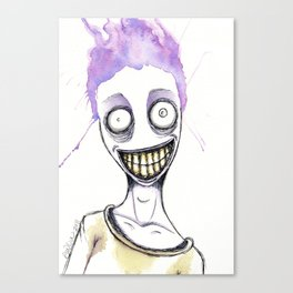 The purple maniac Canvas Print