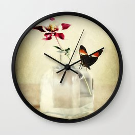 Columbine Art Wall Clock