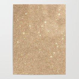 Gold Glitter Chic Glamorous Sparkles Poster