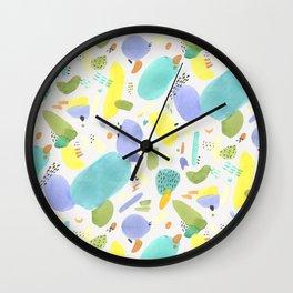 Chubby Watercolor marks Wall Clock