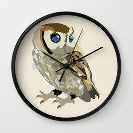Blind Owl Wall Clock