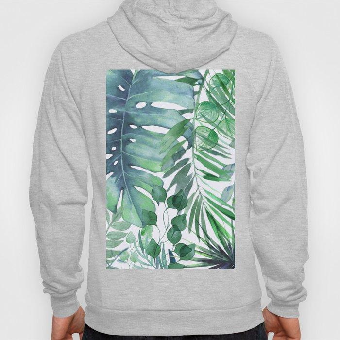 Tropical  Leaves Hoody