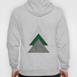 Marble Green Concrete Arrows Collage Hoody