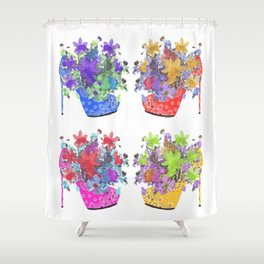 Blooming Shoes Shower Curtain