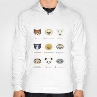 sloths Hoodies featuring Endangered Bears & Sloths by Mirukuru