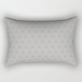 Slate Grey Triangle Small Pattern Design Rectangular Pillow