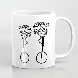 COUPLE OF BIRDS IN MONOCICLO Coffee Mug
