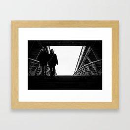 Leaving the lights Framed Art Print
