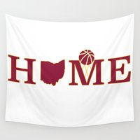 cleveland Wall Tapestries featuring Cleveland Home by DLTNM
