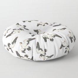 Birds Pattern Photo Collage Floor Pillow