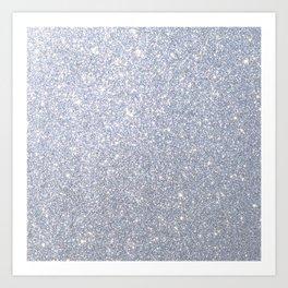 Silver Metallic Sparkly Glitter Art Print