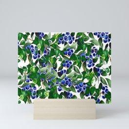 Blueberries and Ivy Mini Art Print