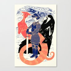 The Knight, Death, & the Devil Canvas Print