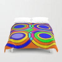et Duvet Covers featuring couleurs et cercles by Sébastien BOUVIER