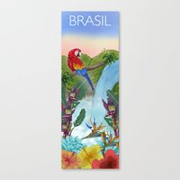 brasil Canvas Prints featuring Brasil by Thyra