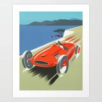 Vintage Racing Car Art Print