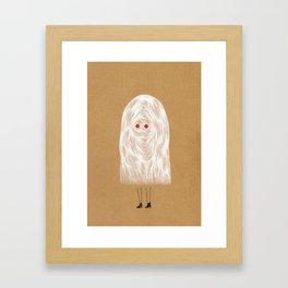 Glam Ghost Framed Art Print