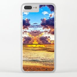 cloudy skies waste land Clear iPhone Case
