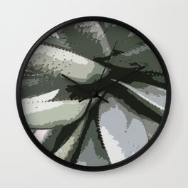 Aloe Vera Details Abstract Wall Clock