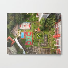 Singapore aerial drone Metal Print