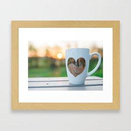 Sunrise and Coffee Framed Art Print