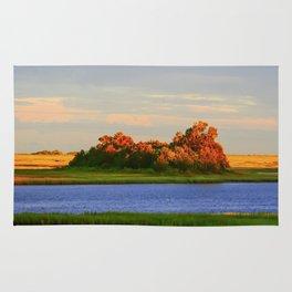 Orange Fall Intercoastal Tree Tops Painting Rug