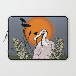 Spoonbill at Dusk Laptop Sleeve