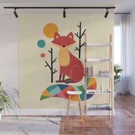 Rainbow Fox Wall Mural