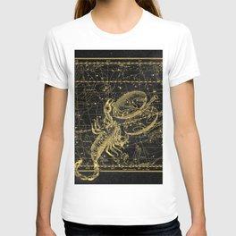 Scorpio Constellation, Astronomy, Astrology, Vintage Engraving Map T-shirt