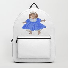 Doll in blue dress Backpack