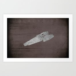 Battlestar Galactica BSG minimalist Blackbird Art Print