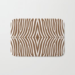 Chocolate Zebra Bath Mat