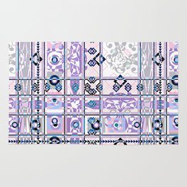 Abstract geometric pattern on white background. Rug