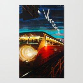 Vitesse Travel Poster Canvas Print
