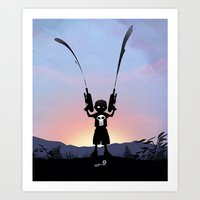 punisher Art Prints featuring Punisher Kid by Andy Fairhurst Art
