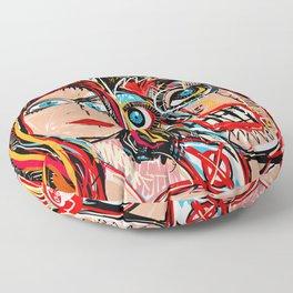 You and I Against the World Street Art Graffiti  Floor Pillow