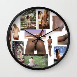 Beautful Bare Buttz 1 Wall Clock