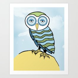 AL the Owl Art Print