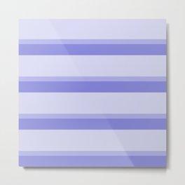 blue stripes faded modern home pattern Metal Print