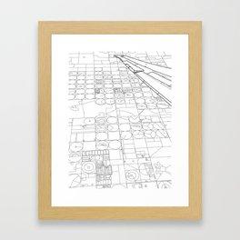 Texas from the Sky - Line Art Framed Art Print