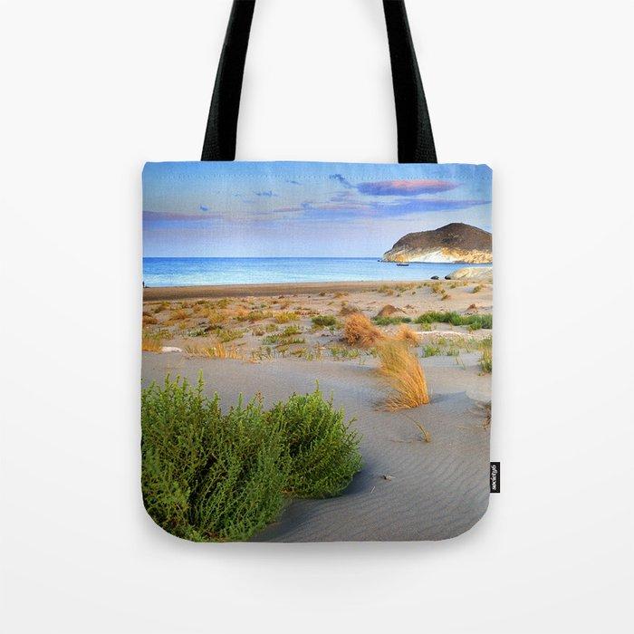 """""""Genoveses Beach"""" Sunset at beach Tote Bag"""
