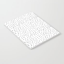 Minimalist Hand-painted Black Dots Notebook