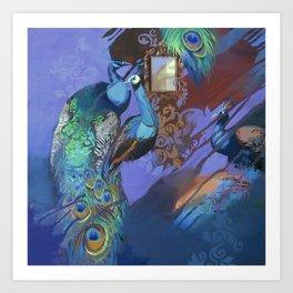 Peacock Suites II Art Print