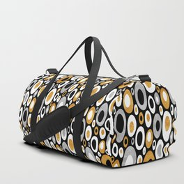 Mid Century Modern Ovals - Small Print in Black, White, Gold, Silver Duffle Bag