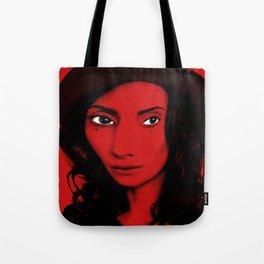 Red Woman Tote Bag