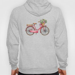 Cute watercolor vintage bike print. Hoody