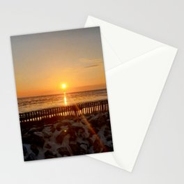 Sunset in the mudflats Stationery Cards