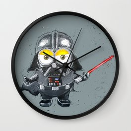 Darth Vader minion style Wall Clock